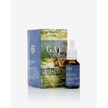 D3-, K1- és K2-vitamin tartalmú  étrend-kiegészítő cseppek Bioaktív MK7-tel - GAL K2-D3 vitamin, 500 mcg K-komplex + 4000 NE D3 x 60 adag