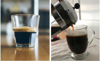 Egy igazi olasz espresso a kávéhabbal együtt lehet maximum 25 ml, míg Dániában az átlagos kávéadag 80-100 ml