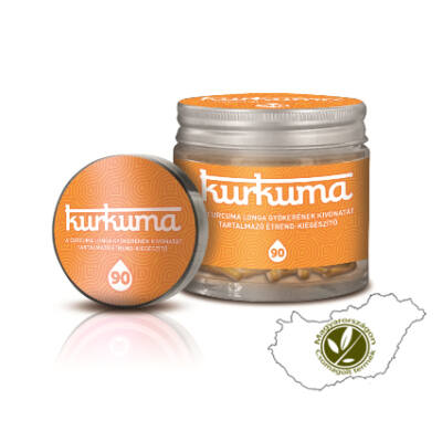 Gyulladáscsökkentő kurkuma kivonatot tartalmazó étrend-kiegészítő - Kurkuma kapszula 90 db