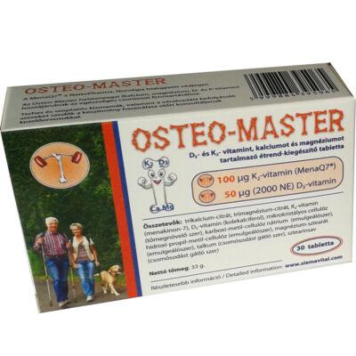 OSTEO-MASTER D3- ÉS K2- VITAMINT, KALCIUMOT ÉS MAGNÉZIUMOT TARTALMAZÓ ÉTREND-KIEGÉSZÍTŐ TABLETTA