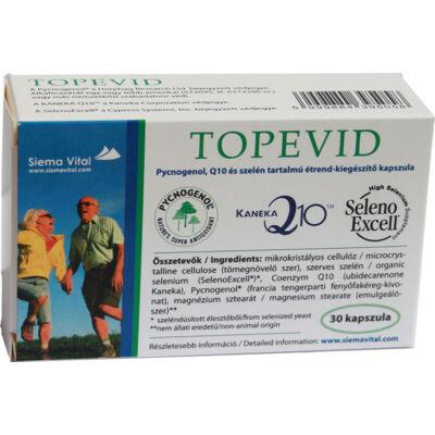 Antioxidánsokkal a sejtek hatékony és optimális működéséért - Q10 és szelén tartalmú étrend-kiegészítő kapszula - TOPEVID Pycnogenol