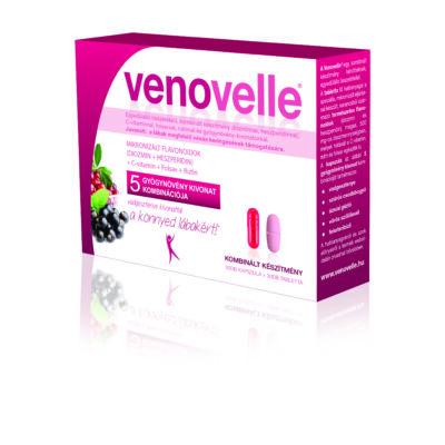 Egyedülálló összetételű, kombinált készítmény 5 gyógynövény kivonattal a könnyed lábakért - Venovelle5