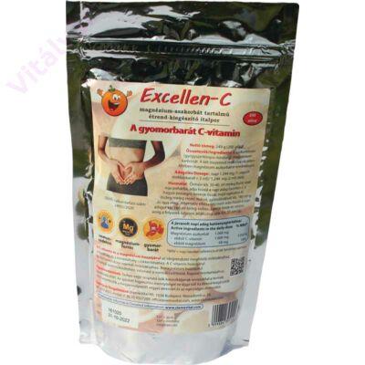 Excellen-C: a gyomorbarát C-vitamin italpor, magnéziummal