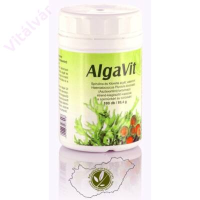 Háromféle algát tartalmazó Algavit kapszula -  Spirulina, Chlorella, Astaxanthin