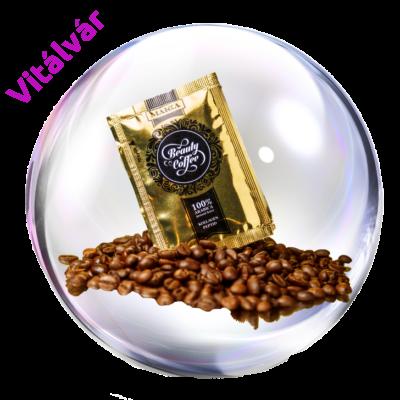 100% arabica instant kávét és bioaktív kollagén peptidet tartalmazó táplálkozási kozmetikum termékminta- MAKKA Beauty Coffee