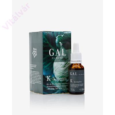 K1- és K2-vitamin tartalmú étrend-kiegészítő cseppek Bioaktív MK7-tel - GAL K-komplex vitamin - 500 mcg K-komplex