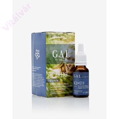 K1- és K2-vitamin tartalmú  étrend-kiegészítő cseppek Bioaktív MK7-tel - GAL K2-D3 vitamin Forte, 1000 mcg K-komplex + 4000 NE D3