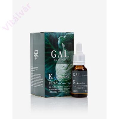 K1- és K2-vitamin tartalmú  étrend-kiegészítő cseppek Bioaktív MK7-tel - GAL K-komplex vitamin Forte -1000 mcg K-komplex