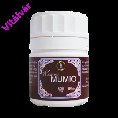 Hatféle aminosavat, különböző savszármazékokat, vitaminok sorát tartalmazó elixír - Kincses MUMIO, a sziklák elixírje
