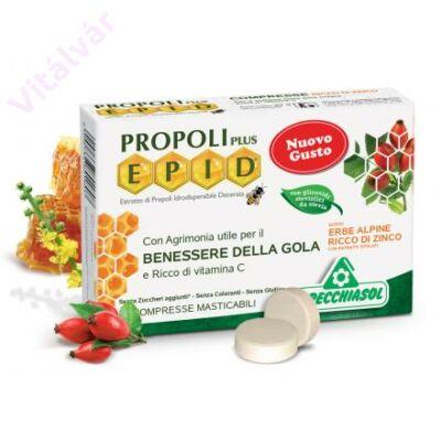 EPID Propolisz szopogatós tabletta gyógynövényes, cinkkel dúsítva (cukormentes)