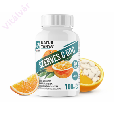 Szerves C-Vitamin rágótabletta - citrus bioflavonoidokkal