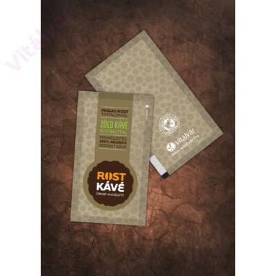 100% arabica instant kávé zöld kávé kivonattal és magas rost tartalommal - MAKKA Rost Kávé termékminta