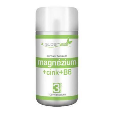 Superwell - Magnézium + Cink + B6 (110 db)