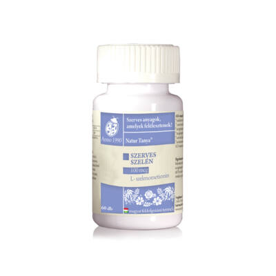 Hozzájárulás az immunrendszer és a pajzsmirigy normál működéséhez - Szerves szelén - 100mcg-os L-szelenometionin tabletta