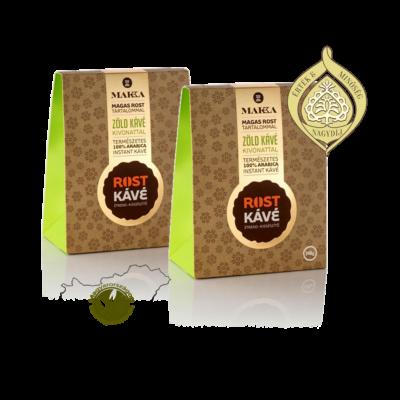 100% arabica instant kávé zöld kávé kivonattal és magas rost tartalommal - MAKKA Rost Kávé ajándékcsomag