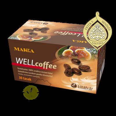 ganoderma természetes 100% arabica instant kávé Ganoderma gomba kivonattal - MAKKA Wellcoffee
